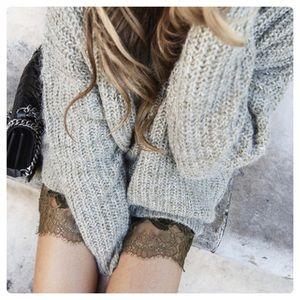 Zara Knit Mohair Wool Loose Knit Vneck Sweater